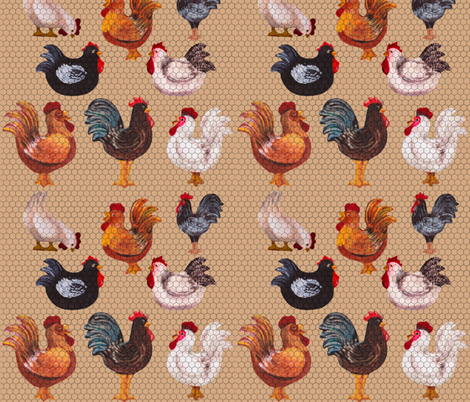 We Love Chickens! fabric by deercreekartworks on Spoonflower - custom fabric