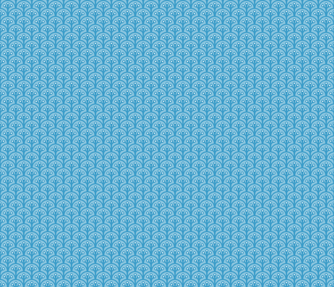 Coral And Waves Small Blue fabric by bags29 on Spoonflower - custom fabric