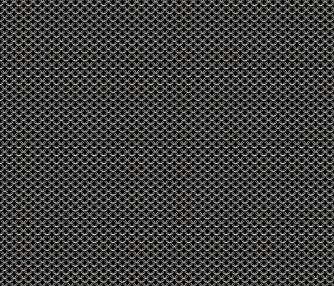 "Chainmaille - Small(1/2""), Black fabric by jelliclestudio on Spoonflower - custom fabric"