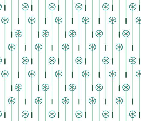 Retro Ski Poles (Minty) fabric by brendazapotosky on Spoonflower - custom fabric