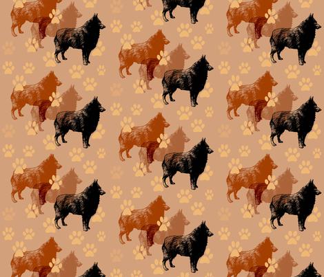 SCHIPPERKE_pawprints fabric by dogdaze_ on Spoonflower - custom fabric