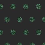 Malachite Polka Dots in Graphite