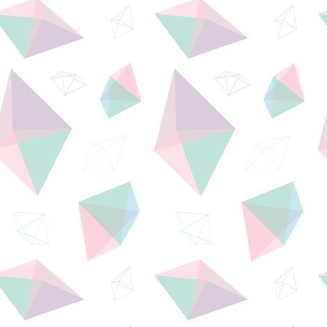 Pastel Geometric Gem Shapes fabric by elliottdesignfactory on Spoonflower - custom fabric