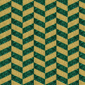 Glitter and Malachite Herringbone