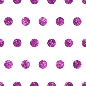 Hot Pink Glitter Polka Dots in White Quartz