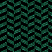 Malachite Herringbone in Black Onyx