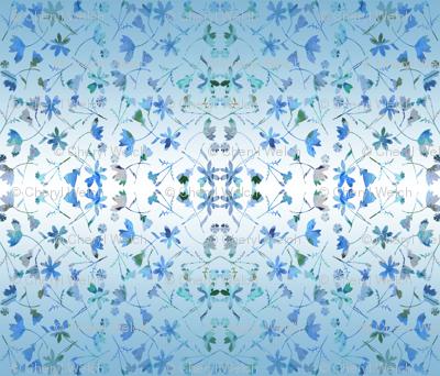 ombre blue garden