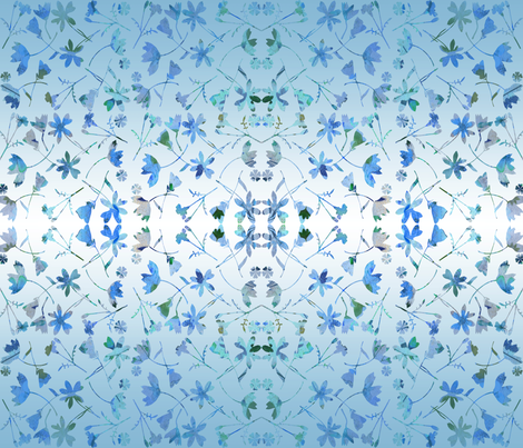 ombre blue garden fabric by mypetalpress on Spoonflower - custom fabric