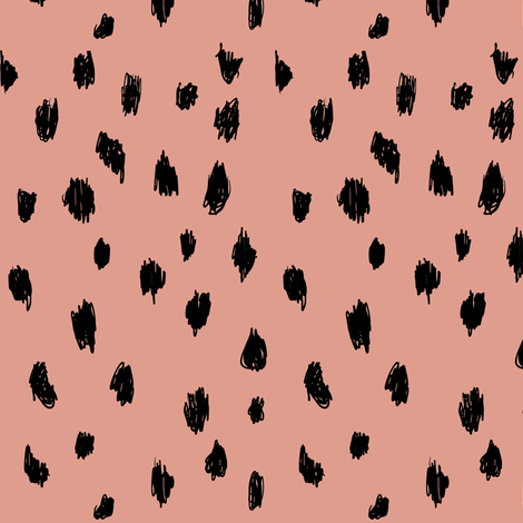 Seeing Spots in Smoked Salmon fabric by elliottdesignfactory on Spoonflower - custom fabric
