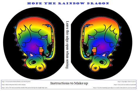 Hope -  the Rainbow Dragon fabric by b2b on Spoonflower - custom fabric