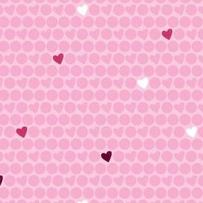 Pink Heart Polka Dots