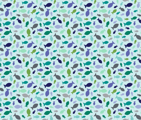Confetti Fish (Light) fabric by brendazapotosky on Spoonflower - custom fabric