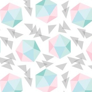 Pastel Hexagon + Triangle Toss