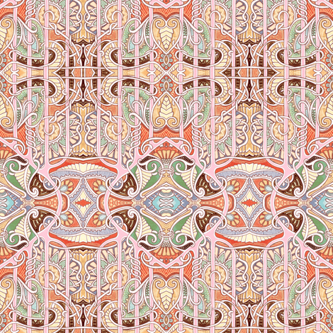 The Fortune Teller's Tablecloth fabric by edsel2084 on Spoonflower - custom fabric