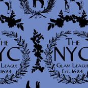 NYC Glam League Crest No. 1 in Lapis Periwinkle