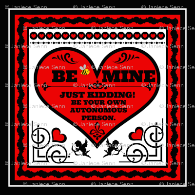 """Be Mine 18"""" pillow top"""
