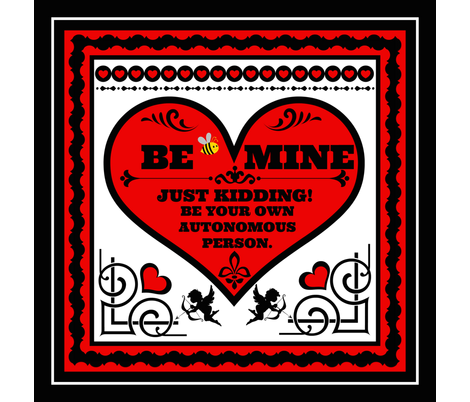 """Be Mine 18"""" pillow top fabric by whimzwhirled on Spoonflower - custom fabric"""