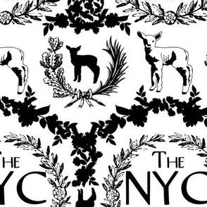 NYC Glam League Crest No. 2 in White + Black