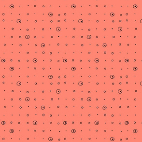 Dots-black/coral