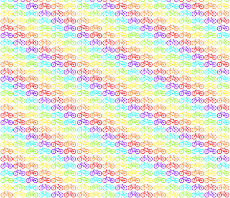 Rainbow Bikes fabric by bowman_does_art on Spoonflower - custom fabric
