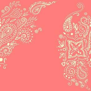 Mehndi Swirl in sweet coral
