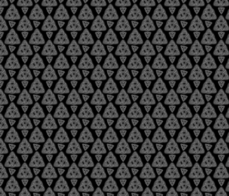 Grey Metal Triquetra  fabric by rhyannon on Spoonflower - custom fabric