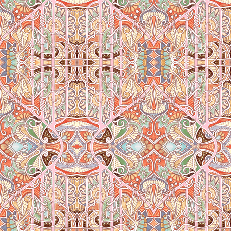 Have a Cosmic Paisley Day fabric by edsel2084 on Spoonflower - custom fabric