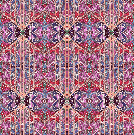 In the Paisley and Spade Ballroom  fabric by edsel2084 on Spoonflower - custom fabric
