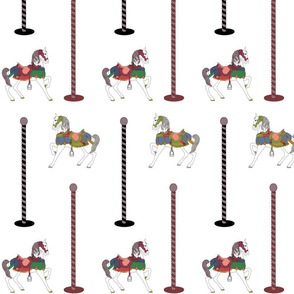 horses_and_poles
