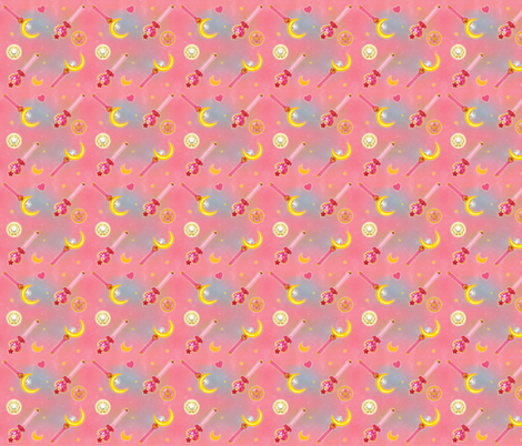 On Wednesdays We Wear Pink & Fight Evil fabric by poison-and-antidote on Spoonflower - custom fabric