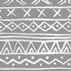 Chalk Tribal Stripe (Gray) XL