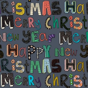 metal merry christmas happy new year