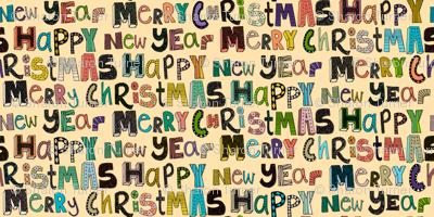 cream merry christmas happy new year