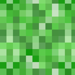 Green Pixel Fabric