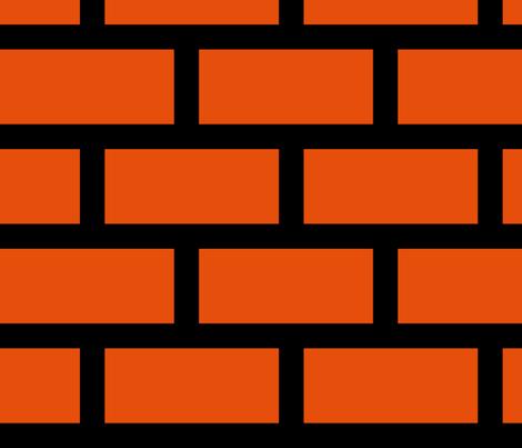 8 Bit Bricks Large Fabric Aussiegeekgirl Spoonflower