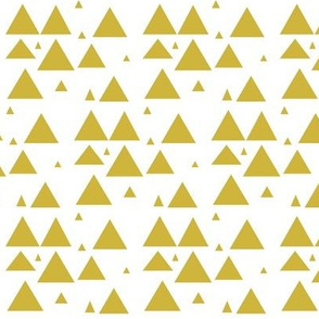 Gold Scattered Triangles - Gold Triangles