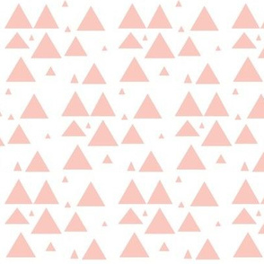 blush scattered triangles