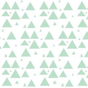 Mint Scattered triangles