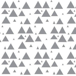 Grey Scattered Triangles - Grey Triangles