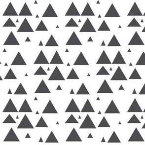 Charcoal scattered triangles