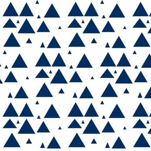 Navy scattered triangles