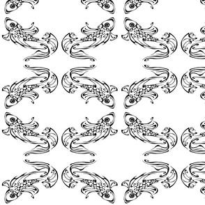 Inkblot Goldfish Mirrored