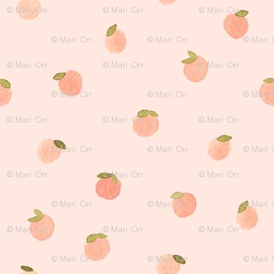 Sweet Peach Polka Dot, Salmon