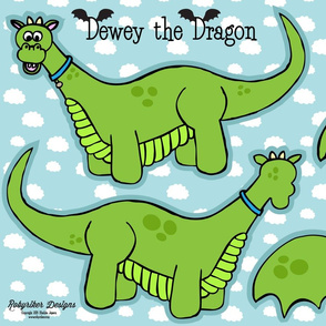 Dewey the Dragon Plushie