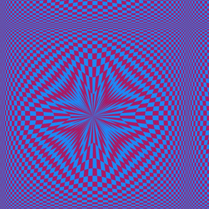 Red and Blue Psycho Checkerboard