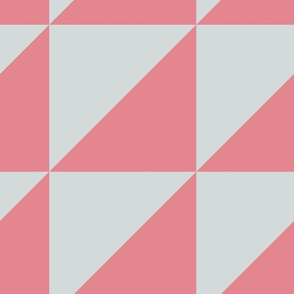 Strawberry Ice and Glacier Gray Quilt Blocks