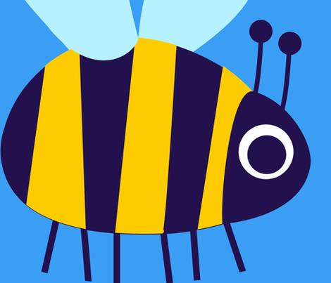 Big Bee fabric by spellstone on Spoonflower - custom fabric