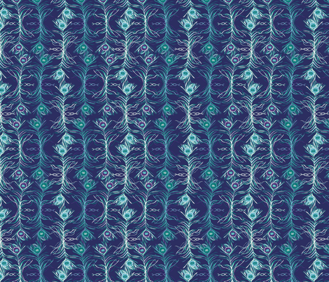 Peacock Feathers fabric by mhdesign on Spoonflower - custom fabric