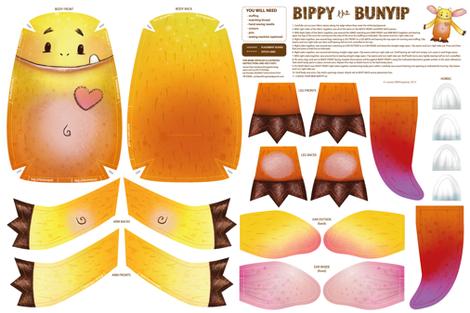 Bippy the Bunyip fabric by pinky_wittingslow on Spoonflower - custom fabric