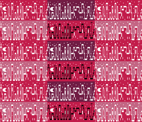 Lipstick City Strips fabric by anniedeb on Spoonflower - custom fabric